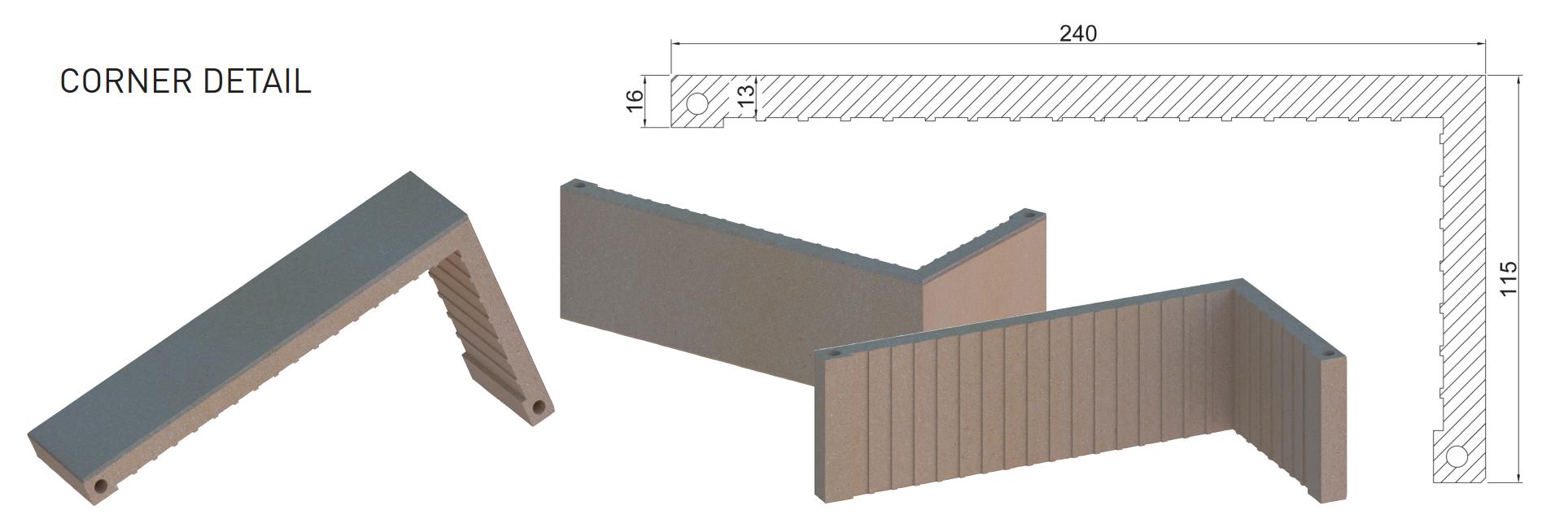 Brick Tile Corner