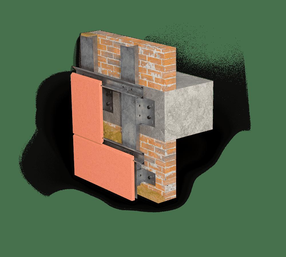 Система крепления терракотовых плит ELAR FLAT