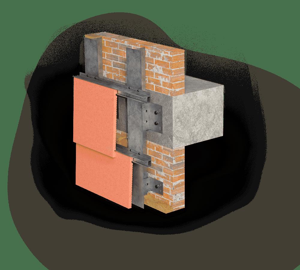 Система крепления терракотовых плит ELAR ROOF